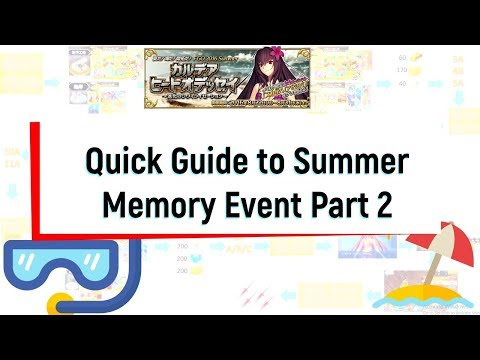 FGO] 2 min quick guide for Summer memory event Part 2 - смотреть