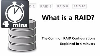 QUICK VID - What is RAID 0, 1, 5, 6 and 10 Explained in just 4 minutes