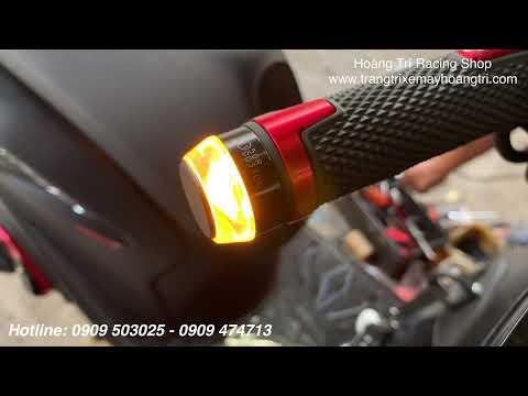 Lắp đặt Led gù tay lái HTR 2 chế độ màu Demi và xi nhan cho xe Sh VN 2020
