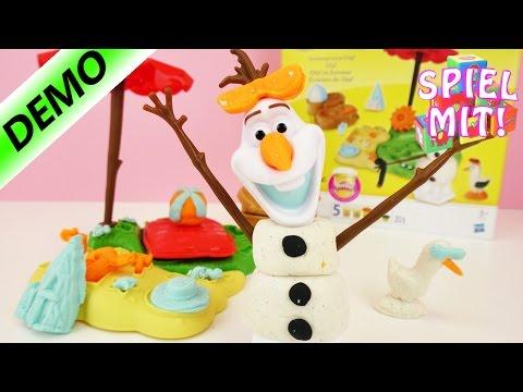 Play-Doh Olaf im Sommer - am Strand mit Sonnenbrille und Picknick Decke | Demo