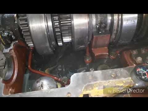 Ремонт КПП К-700 обкатка бусерного вала и обкатка КПП