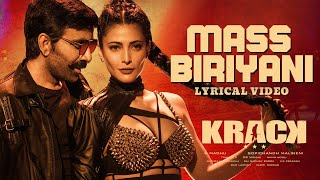 Mass Biriyani Lyrical Video Song | Krack | Raviteja, Shruti Haasan | Gopichand Malineni | Thaman S
