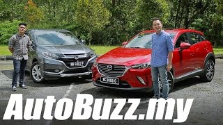Mazda CX-3 2.0L SkyActiv vs Honda HR-V 1.8L V review - AutoBuzz.my