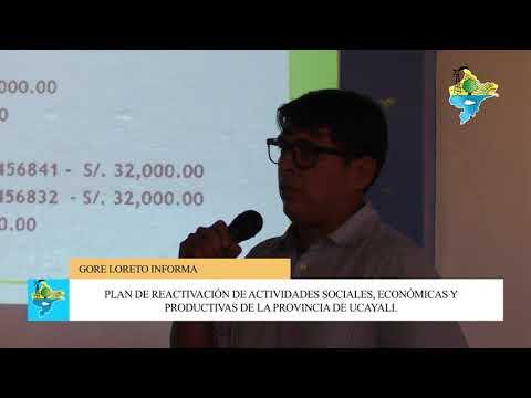 Plan reactivación de actividades sociales, económicas y productivas de la Provincia de Ucayali