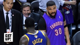 Drake Trolls The Warriors In Epic Fashion In Game 1  Get Up!