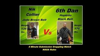 ♣♣ 6th Degree Hapkido Black Belt (175 lbs.) Vs Bjj Blue Belt (135 lbs.) ♣♣