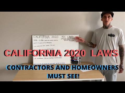 California residents new 2020 laws, Guest homes ADUs