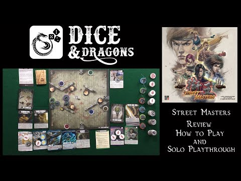 Dice and Dragons - Street Masters Review, How to Play and Solo Playthrough