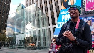 First Time in Times Square - Apple Store 5th Ave - AirPods Pro in NYC!