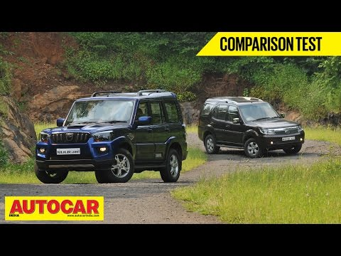 2014 Mahindra Scorpio vs Tata Safari Storme | Comparison Test | Autocar India