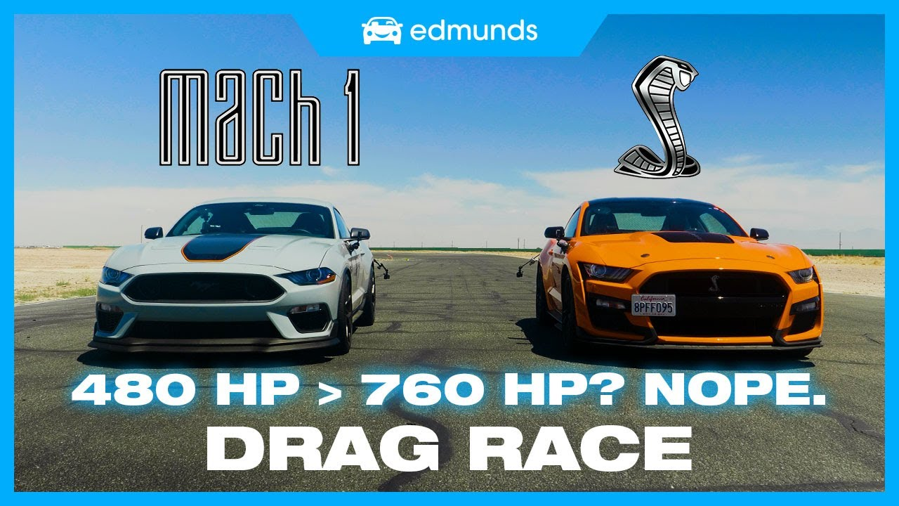 nmpsxmsjthE - Drag Race! Shelby GT500 vs. Mustang Mach 1   Which Mustang Is the Fastest Mustang?