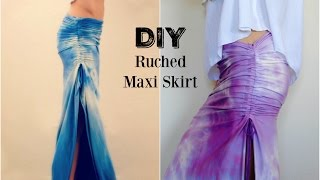 DIY: Ruched Maxi Skirt