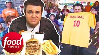 Adam Destroys A 4 LB Proper American Challenge In 15 Minutes   Man v Food