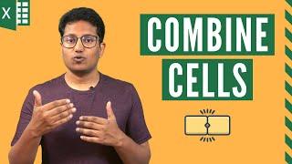 How to Combine Cells in Excel (Using formulas) | Combine Columns in Excel
