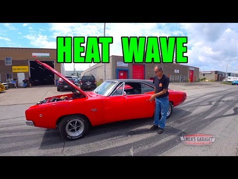 Stunning 1968 Dodge Charger Initial Start - Heat Wave at Nick's