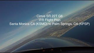 Santa Monica (KSMO) to Palm Springs (KPSP) in Cirrus SR 22T G6