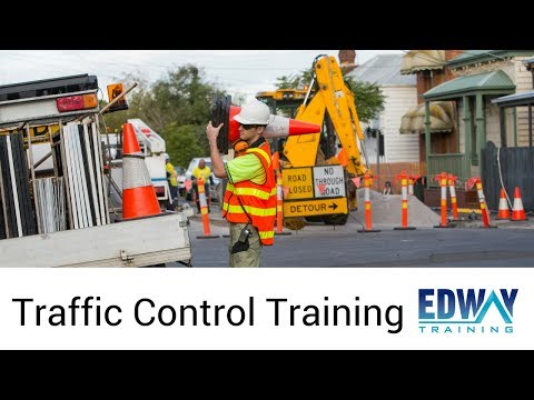 Traffic Control Training Course   Edway Training Melbourne - YouTube