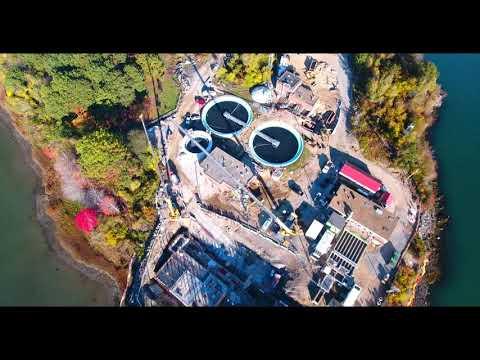 10 20 2017   Aerial Video Peirce Island Wastewater Treatment Facility