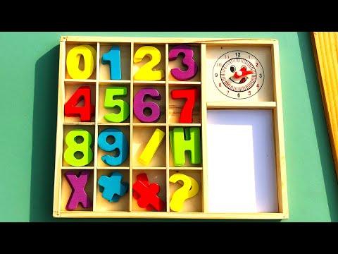 Учим Цифры | Учимся считать и писать до 9 | Обучающее видео для самых маленьких