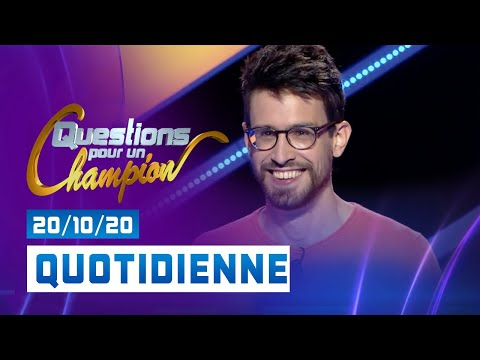 Emission du Mardi 20 Octobre 2020 - Questions pour un champion