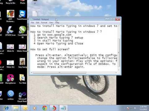 mario teaches typing 2  windows 7