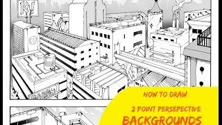 How To Draw Manga Backgrounds SHONEN Ep 2