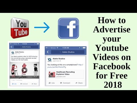 How to advertise your youtube videos on facebook for free 2018