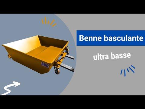 Video Youtube Benne basculante ultra basse - Capacité 480 à 1630 litres - Charge inférieure à 1800 kg