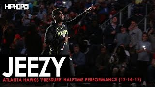 """Jeezy Performs """"Put On"""", """"All There"""" & More (Atlanta Hawks 'Pressure' Halftime Performance)"""