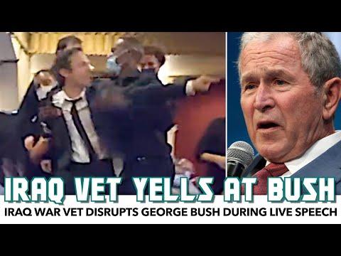 Iraq War Vet Disrupts George Bush During Live Speech