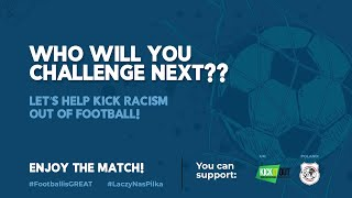 "Let's kick racism out of football. The challenge organized by the UK Embassy in Warsaw for ""NEVER AGAIN"" and Kick It Out, 29.03.2021."