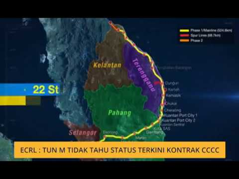 ECRL: Tun M tidak tahu status terkini kontrak CCCC
