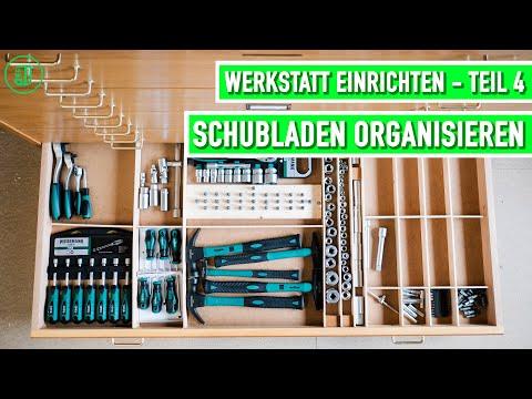 Werkstatt einrichten - Teil 4: Schubladen organisieren und aufräumen | Jonas Winkler