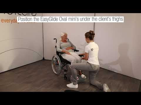 Getting into the back of a chair with EasyGlide oval mini and Footstool English