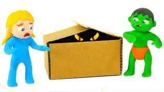 FUNNY KIDS & THE SURPRISE IN THE BOX ❤ Play Doh Cartoons For Kids