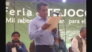 preview picture of video 'Inauguración Feria Tejocote Calpan 2014 - Palabras de Leonardo Lazaro'