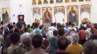 Молитва Патриарха Кирилла в Хотьково перед Крестным Ходом
