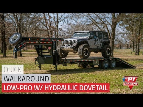 2020 PJ Trailers Low-Pro with Hydraulic Dove (LY) 30 ft. in Kansas City, Kansas - Video 1
