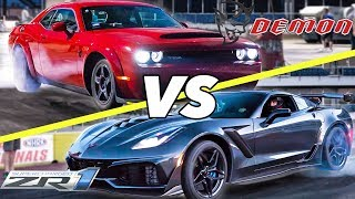 ZR1 vs Demon!   Who is REALLY faster?   Kholo.pk