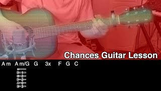 John Frusciante - Chances (Acoustic Guitar Lesson)