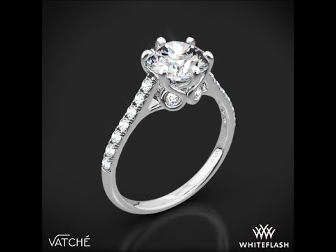 df99a4e2fdceb Platinum Vatche 1054 Swan French Pave Diamond Engagement Ring