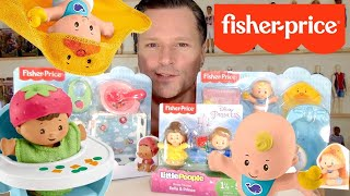 FISHER PRICE LITTLE PEOPLE BABIES: Wash & Go Snack & Snooze Disney Princess Belle & Prince Play Sets