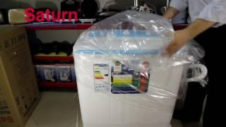 "Стиральная машина полуавтомат Saturn ST-WK7603 (загрузка 6,5кг) от компании Компания ""TECHNOVA"" - видео"