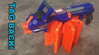 TAG BACK! - Nerf N-Strike Elite Hail-fire (Meet the Heavy)