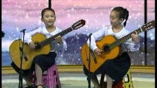 설눈아 내려라- Please, let the snow fall (North Korean students' guitar)