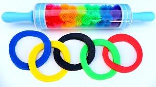 Play Doh Olympics Games Kids Rainbow Roller Pin Playdough Plasticine Fun