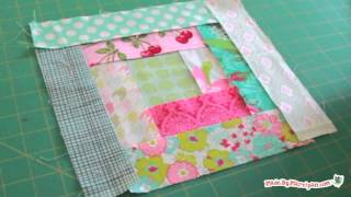 Log Cabin Quilt Block Tutorial