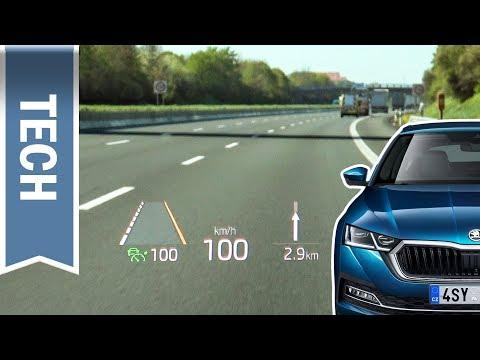 Head-up-Display im Skoda Octavia 2020: Skodas erstes HUD im Test während der Fahrt