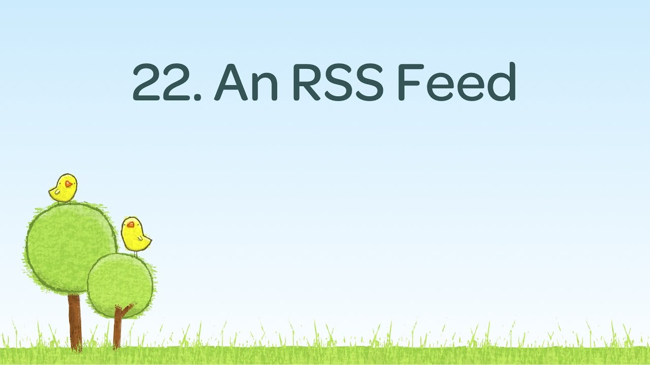 Create a Blog RSS feed