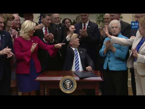 President Trump Signs House Joint Resolution 37, 44, 57 and 58